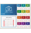 wall calendar for 2018 year design template with vector image