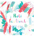 abstract holiday background happy holi colors vector image