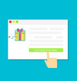 buying gifts online vector image