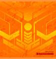 Background orange texture space vector image