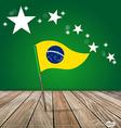 Brazil Flags concept design vector image vector image