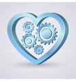 Gear Heart vector image