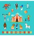 Circus and fun fair elements vector image