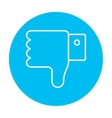 Thumb down hand sign line icon vector image