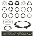 circular arrows collection vector image