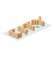 City Isometric building in the form of letters vector image