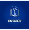 Education logo with book vector image