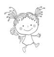girl contour 2 vector image