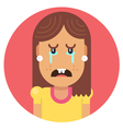 Girl with an ugly smile vector image