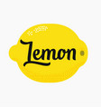 lemon with lettering type vector image