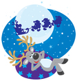 Dream of Reindeer vector image