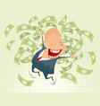 happy businessmen jumping vector image