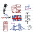 London Doodles vector image vector image