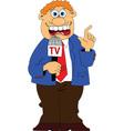 Media interview cartoon vector image vector image