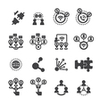 connection icon set vector image