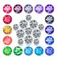 Diamond pentagon brooch vector image vector image