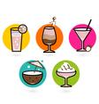 Retro drink Icons vector image vector image