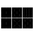 Seamless pattern bait fish vector image
