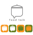 food talk concept with pot and web icons vector image