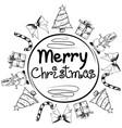 greeting merry christmas vector image