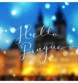 hello prague text vector image