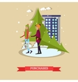 holiday purchases design vector image
