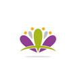 lotus flower spa abstract logo vector image
