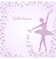 Tender ballerina with flowers vector image