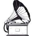 vintage gramophone vector image