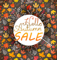 Autumn Fall sale banner template vector image vector image