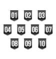 Number set ribbon vector image