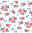 Rose pattern vector image vector image