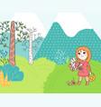 doodles cute card vector image