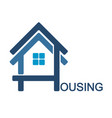 housing design symbol vector image vector image