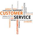 word cloud customer service vector image