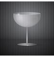 Empty Wine Glass on Dark Grey Background vector image