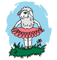 sheep in skirt vector image