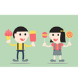 boy and girl are decayed tooth vector image