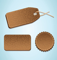 set of leather labels - vector image vector image
