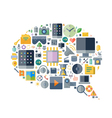 Icons for technology and electronics vector image vector image
