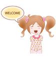 Cheerful girl vector image