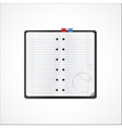 Blank notebook for records vector image
