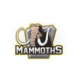 cartoon emblem of mammoth vector image