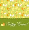 Easter greeting card with pattern vector image