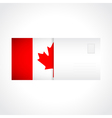 Envelope with Canadian flag card vector image