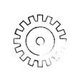 Figure industry gear to process engineering vector image