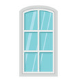 flat architecture window icon isolated on white vector image