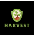 Logo horticulture crop plant soil style flat trend vector image