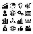 Marketing and CEO Icons Set vector image