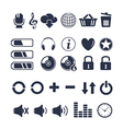 Media player universal icons vector image